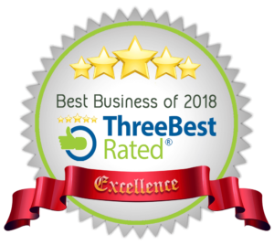 Best Business of 2018 - Three Best Rated - Excellence
